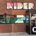 A winter vestibule enclosure for Rider by NYC Signs & Awnings
