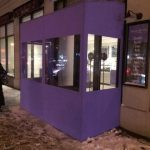 A winter vestibule by NYC Signs & Awnings