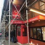 A winter vestibule for Scarlatto Ristorante by NYC Signs & Awnings