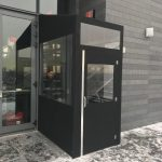 A winter vestibule enclosure by NYC Signs & Awnings
