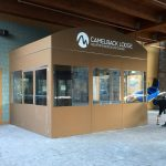 A winter vestibule enclosure for Camelback Lodge by NYC Signs & Awnings