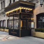 A winter vestibule enclosure for the Warwick by NYC Signs & Awnings