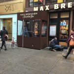 A winter vestibule enclosure for Max Brenner Chocolate Bar by NYC Signs & Awnings