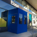 A winter vestibule enclosure for Base by NYC Signs & Awnings