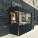 A winter vestibule enclosure for Birch by NYC Signs & Awnings