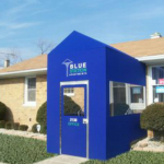 A winter vestibule enclosure for the Blue Station by NYC Signs & Awnings