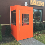 A winter vestibule enclosure for Artaux by NYC Signs & Awnings